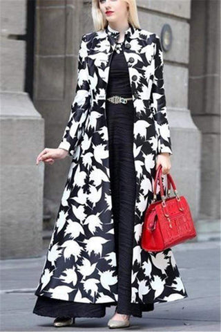 Autumn And Winter   Fashion Prints Warm Long Cardigans