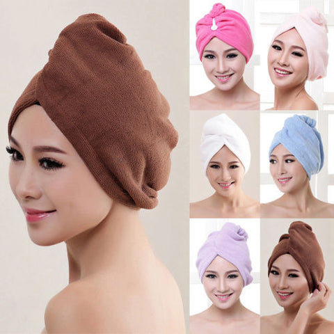 Magic Hair Drying Towel Hat Head Shower Cap Quick Dry Towel