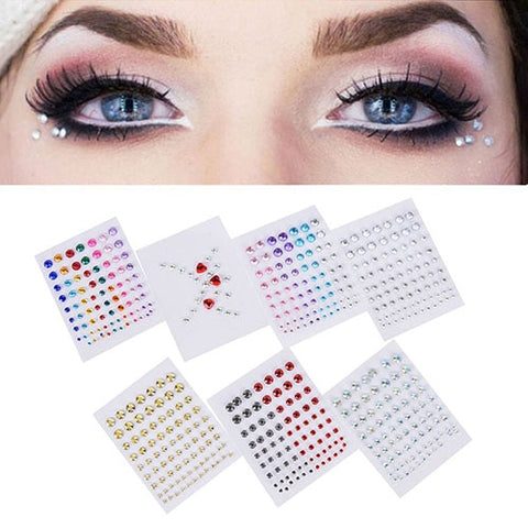 Tattoo Diamond Makeup Eyeliner Eyeshadow  Crystal Eyes Sticker