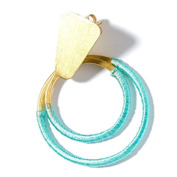 Kaia Earrings - Teal Hoop