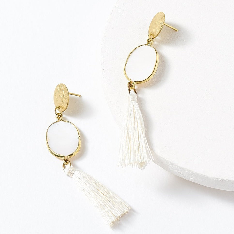 Dhavala Tassel Drop Earrings
