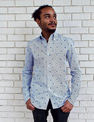 The Diagonal Button Down Organic Cotton Shirt