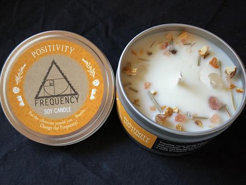 Positivity Crystal Infused Soy Candle