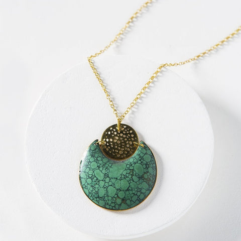 Tara Stone Crescent Necklace