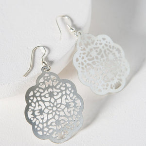Viti Silvertone Earrings