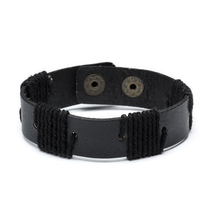 Rama Sustainable Leather Cuff - Black