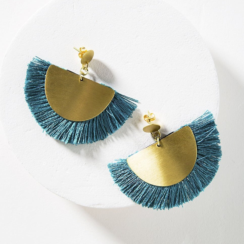 Vitana Cosmos Earrings - Teal