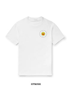Blanco Flower Tee - White