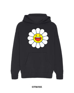 Blanco Large Flower Hoodie - Black