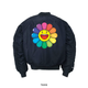 Rainbow Flower Alpha Jacket Blue