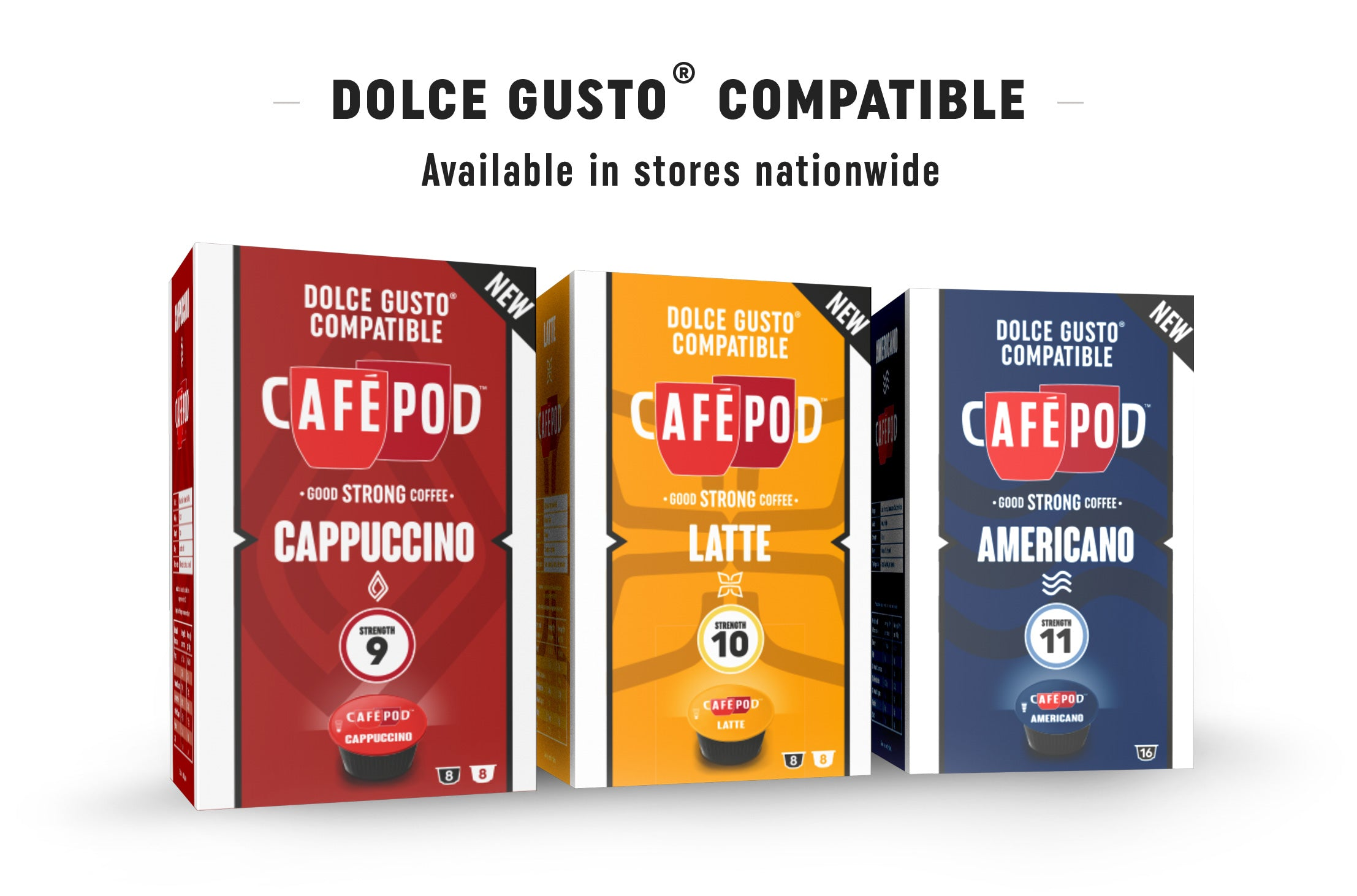 dolce gusto compatible coffee capsules caf pod. Black Bedroom Furniture Sets. Home Design Ideas