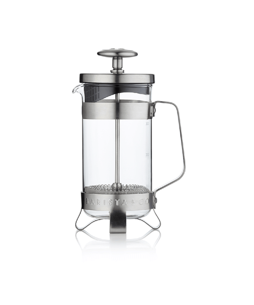 Barista & Co. 3 Cup Coffee Press - Electric Steel