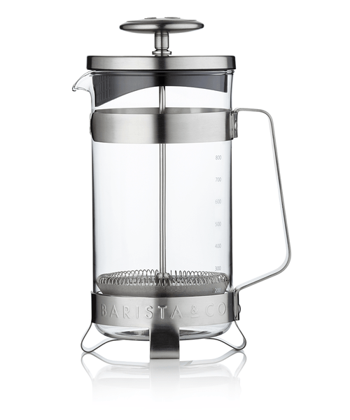 Barista & Co. 8 Cup Coffee Press - Electric Steel