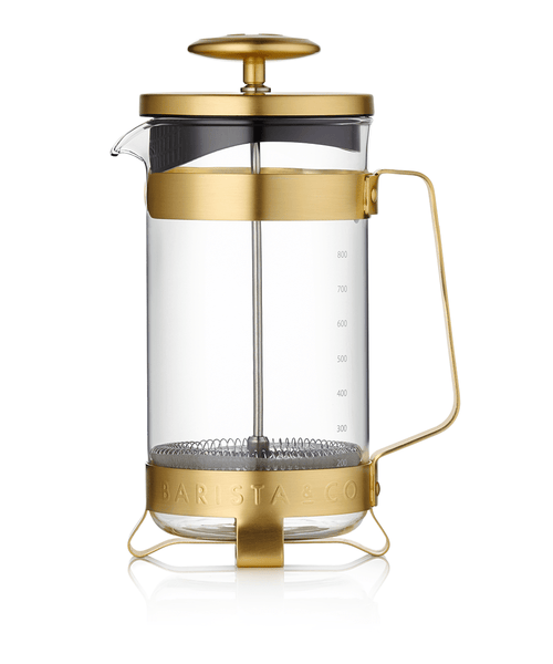 Barista & Co. 8 Cup Coffee Press - Midnight Gold