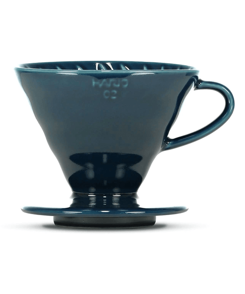 Hario V60 Ceramic Coffee Dripper - 02 - Indigo Blue