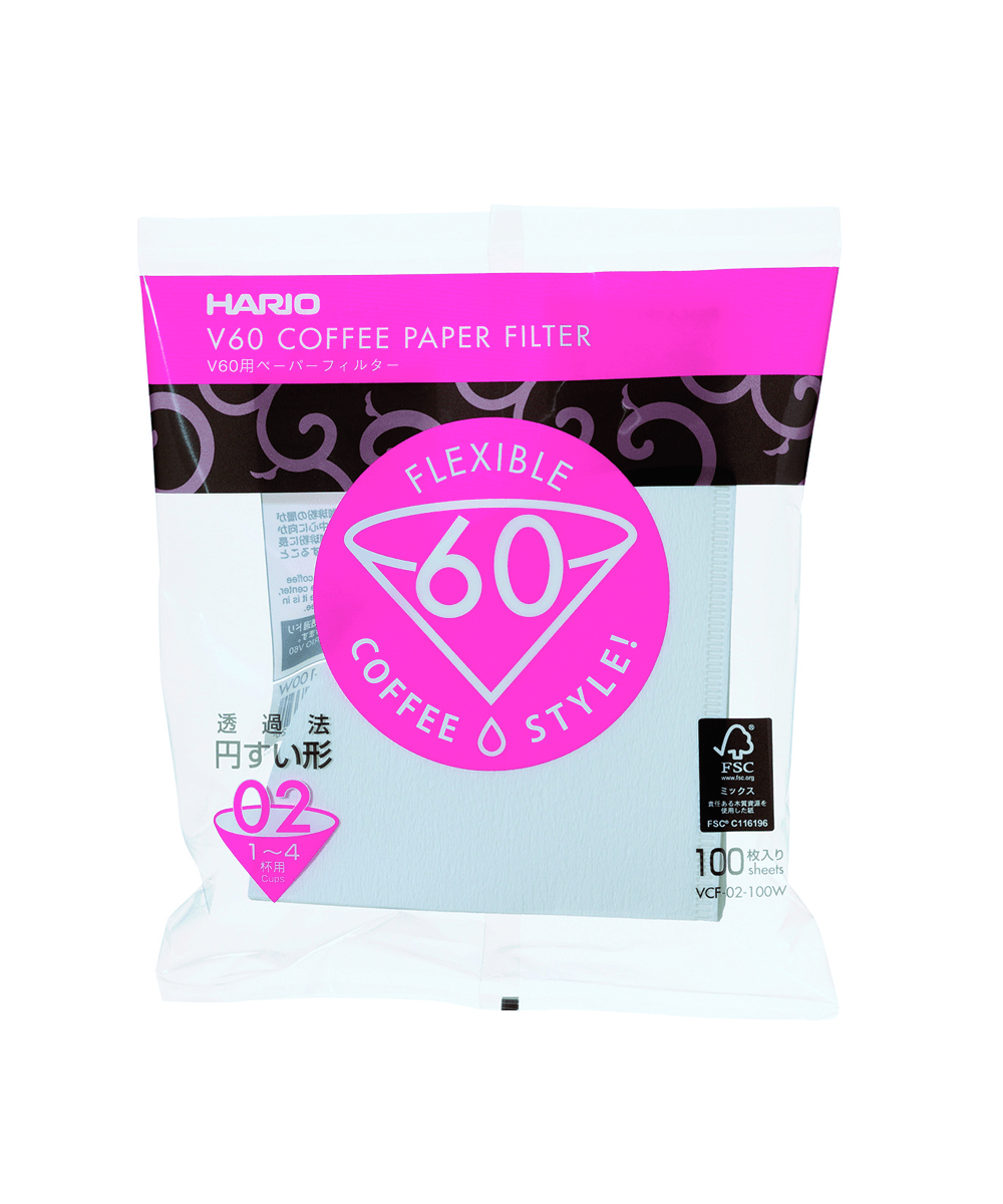 Hario V60 Filters 02 - 100 White Papers