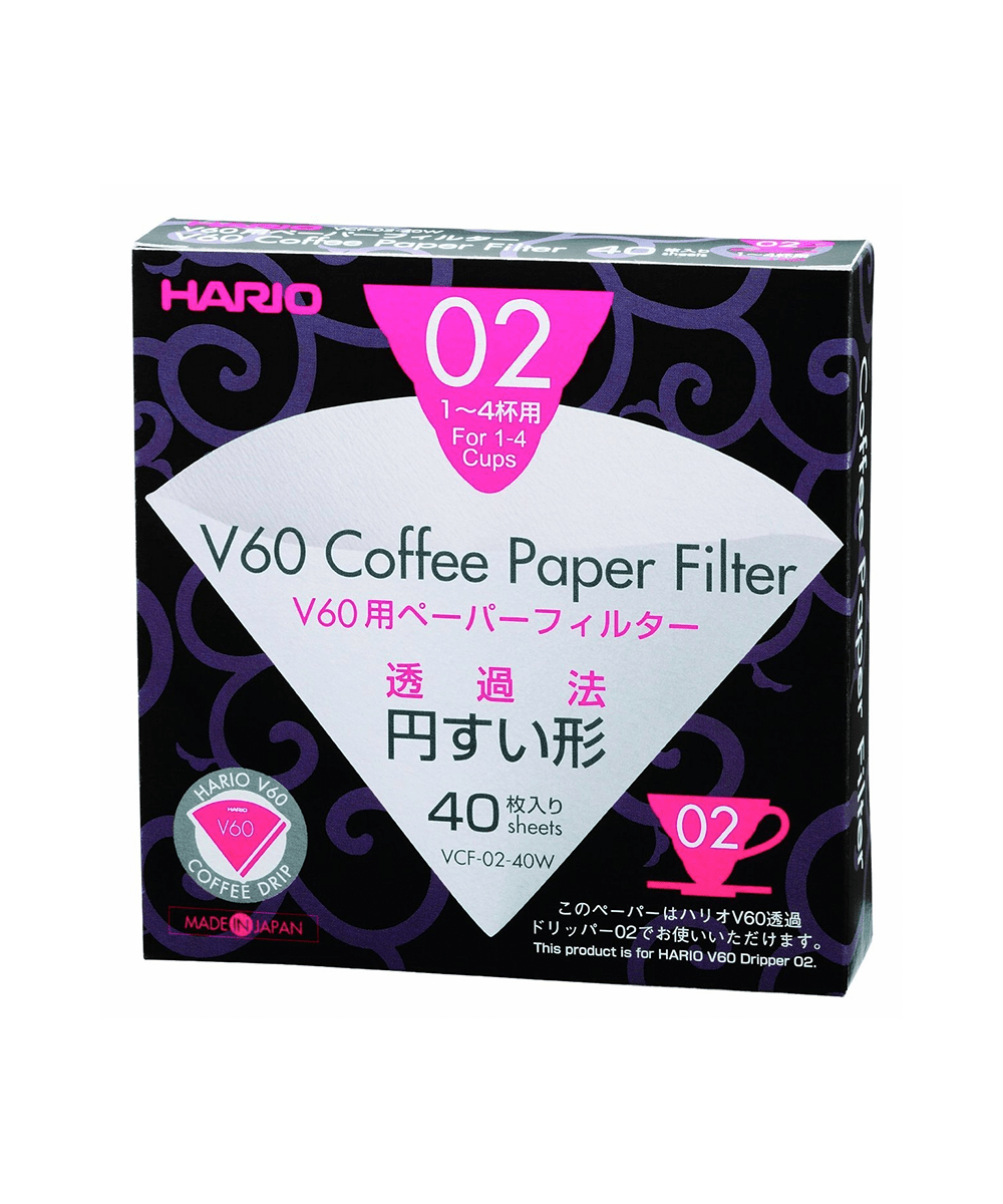 Size 02 Hario V60 Paper Coffee Filters White Dripper 02 100 Count