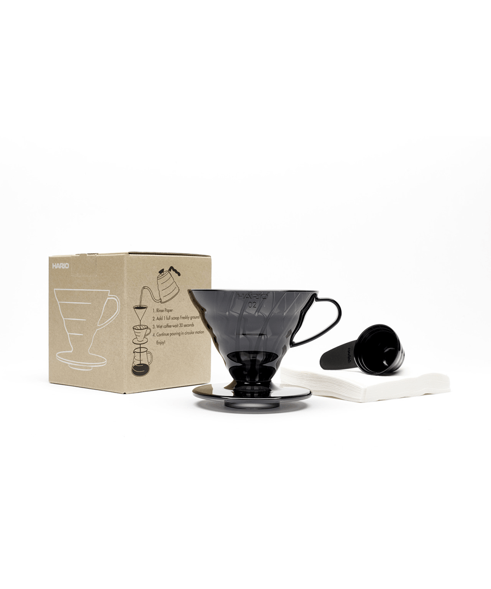 Hario V60 Dripper Set - Black