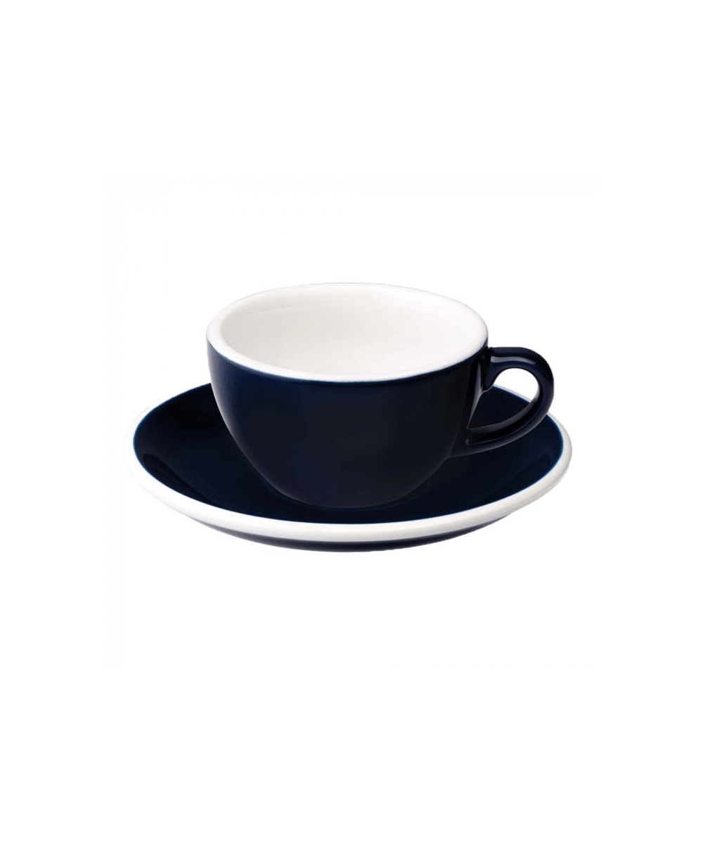 Egg Flat White Cup & Saucer - Denim