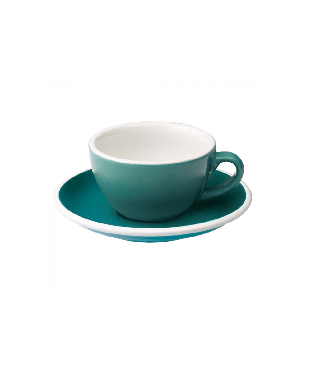 Egg Flat White Cup & Saucer - Teal