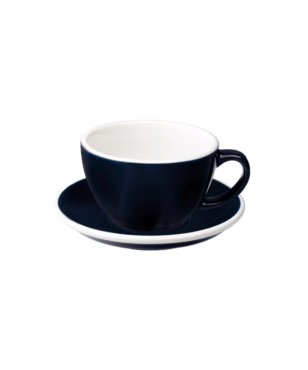 Egg Latte Cup & Saucer - Denim
