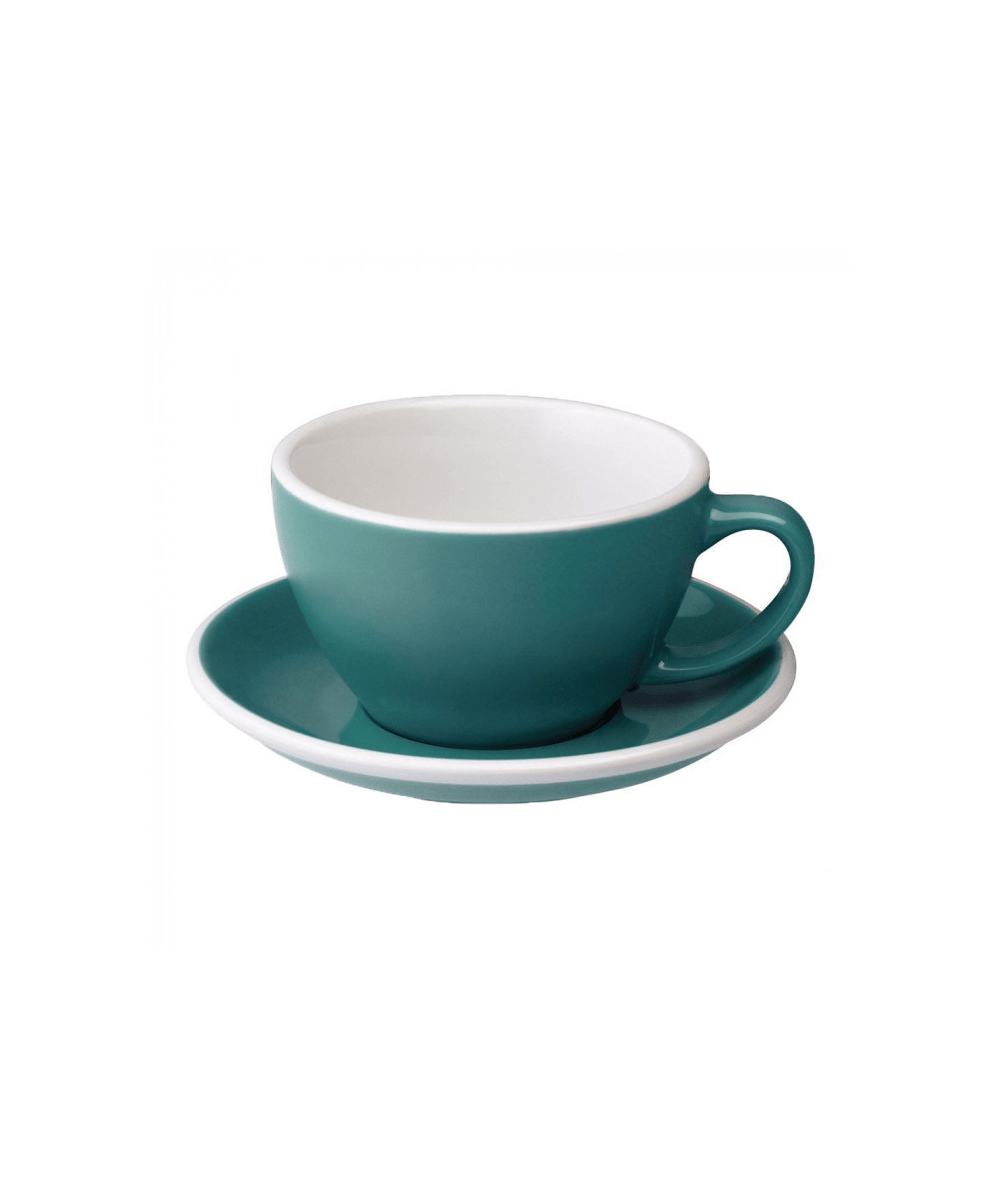 Egg Latte Cup & Saucer - Teal