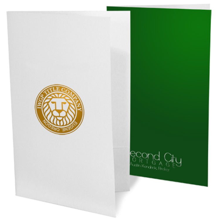 Foil Stamped Legal Size Presentation Folders – 1-Color