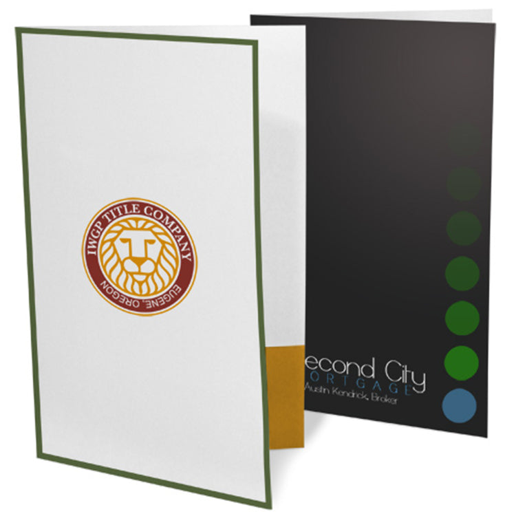 Ink Printed Legal Size Presentation Folders – 3-Color