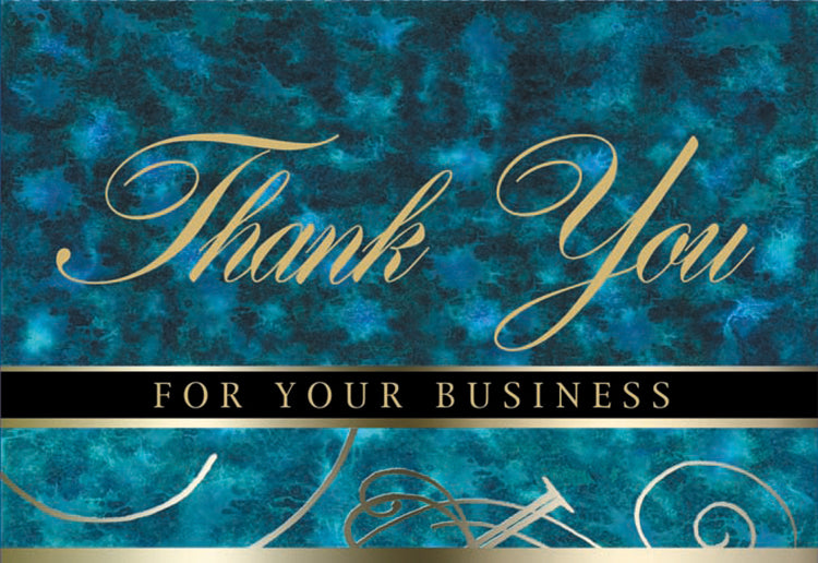 Blue Marble Thank You Card