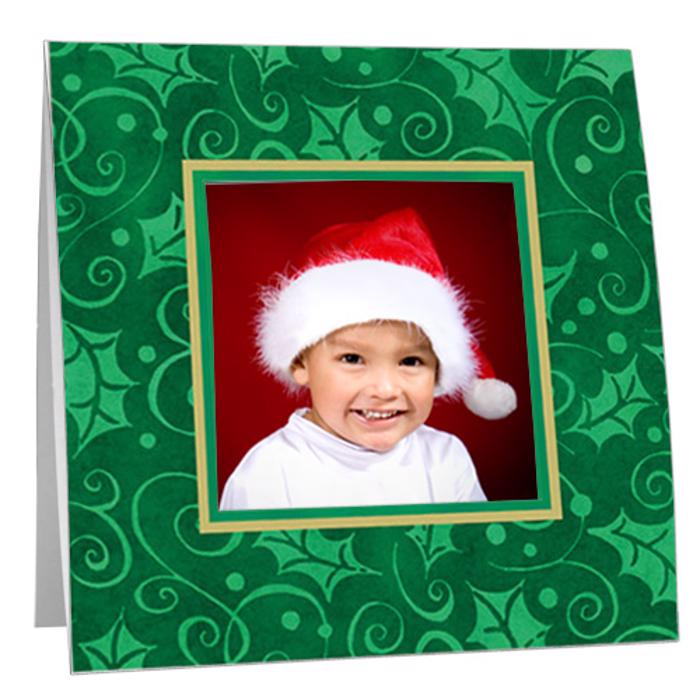 Christmas Holly Swirl Paper Polaroid Frame