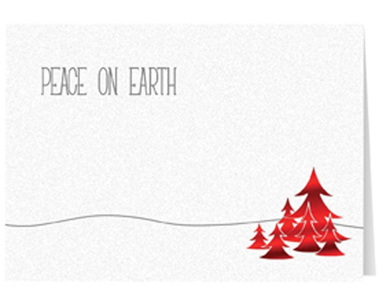 Red Peace on Earth Holiday Greeting Card