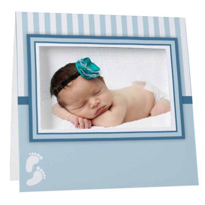 Blue Baby Footprints Instax Frame