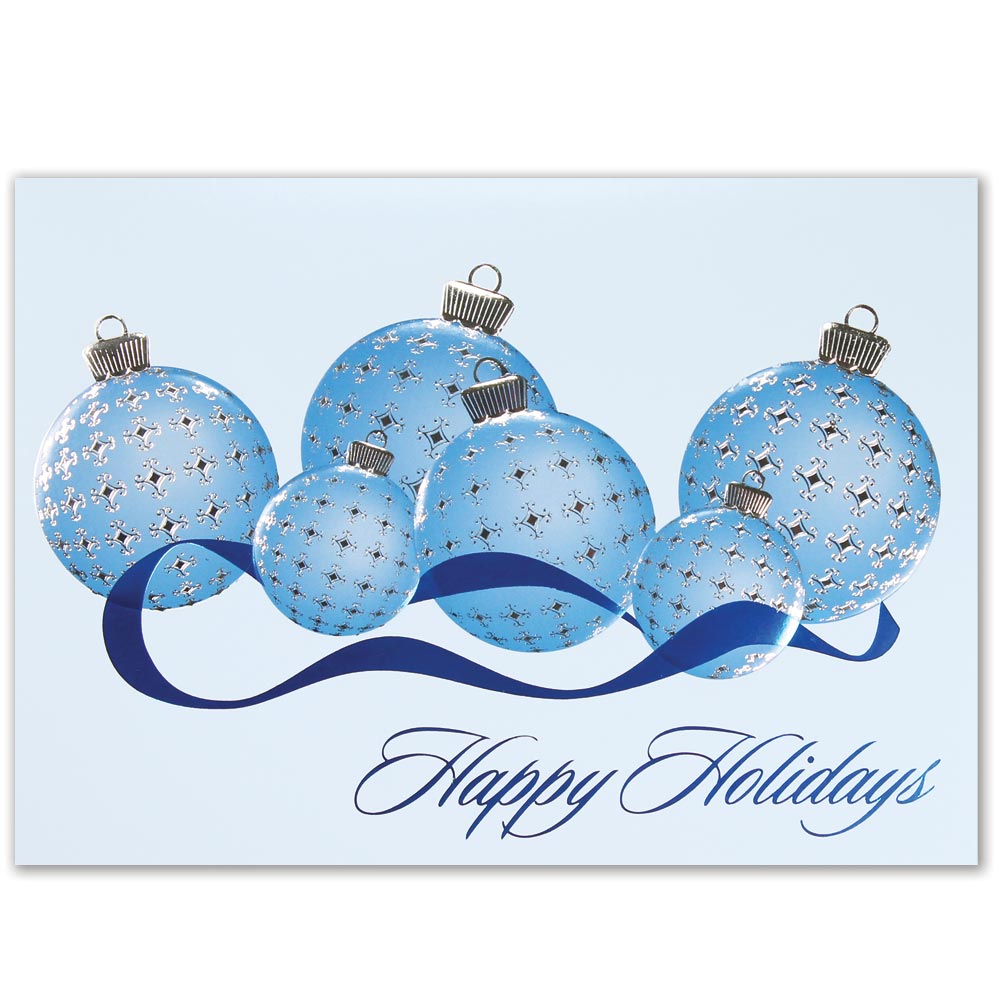 Plaid Ornaments Holiday Greeting Card
