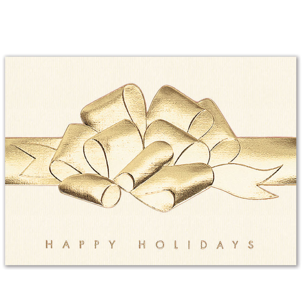 Raised Foil Bow Holiday Greeting Card