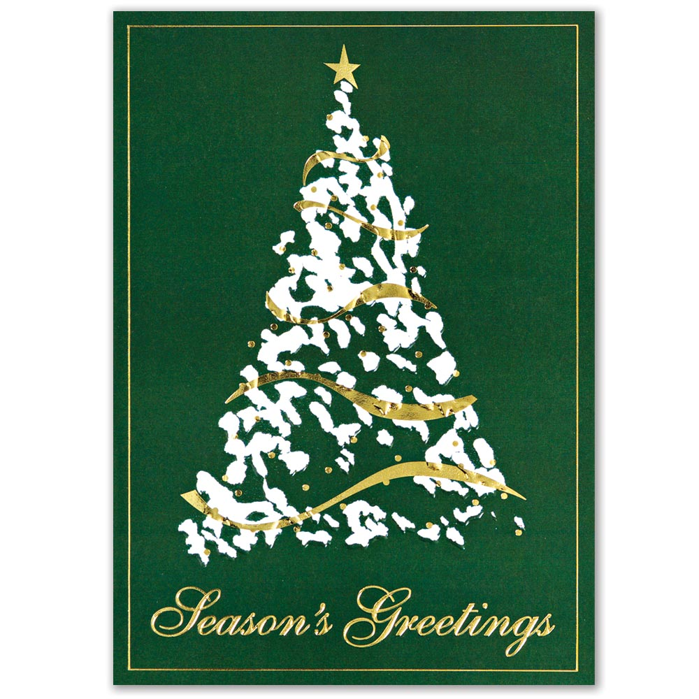 Contemporary Tree Holiday Greeting Card