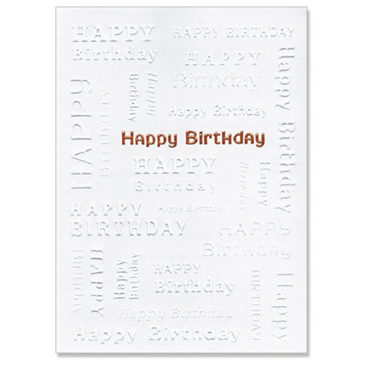 Birthday Words Greeting Card