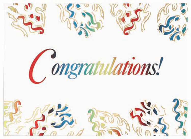 Congratulations Streamers Greeting Card