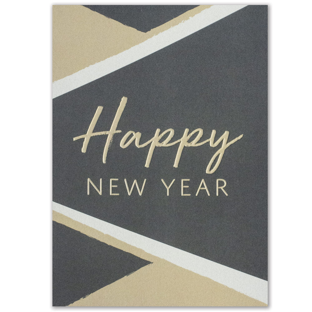 Geometric Happy New Year Greeting Card
