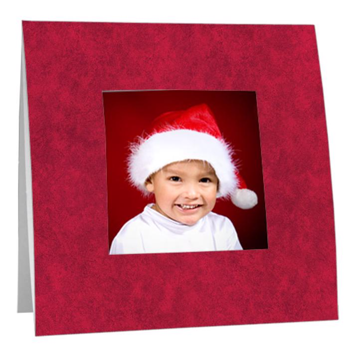 Festive Holiday Red Paper Polaroid Frame