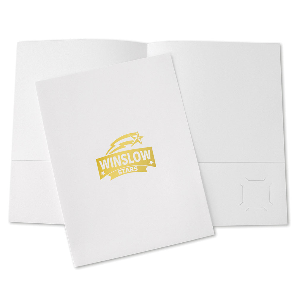 Budget Pocket Folder – Foil Stamped