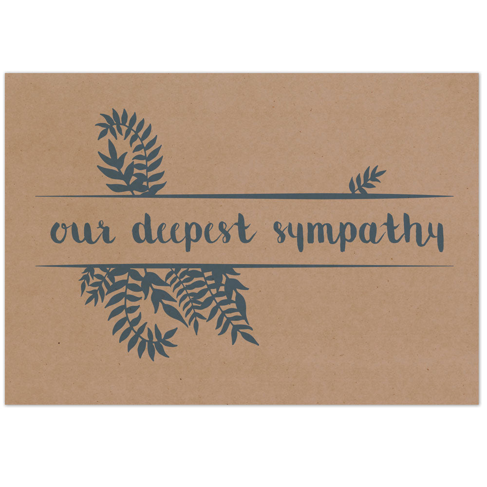 Ferns Sympathy Card