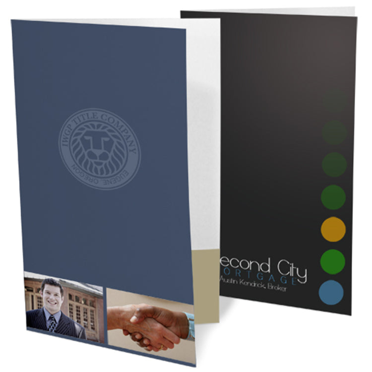 Ink Printed Legal Size Presentation Folders – 4-Color
