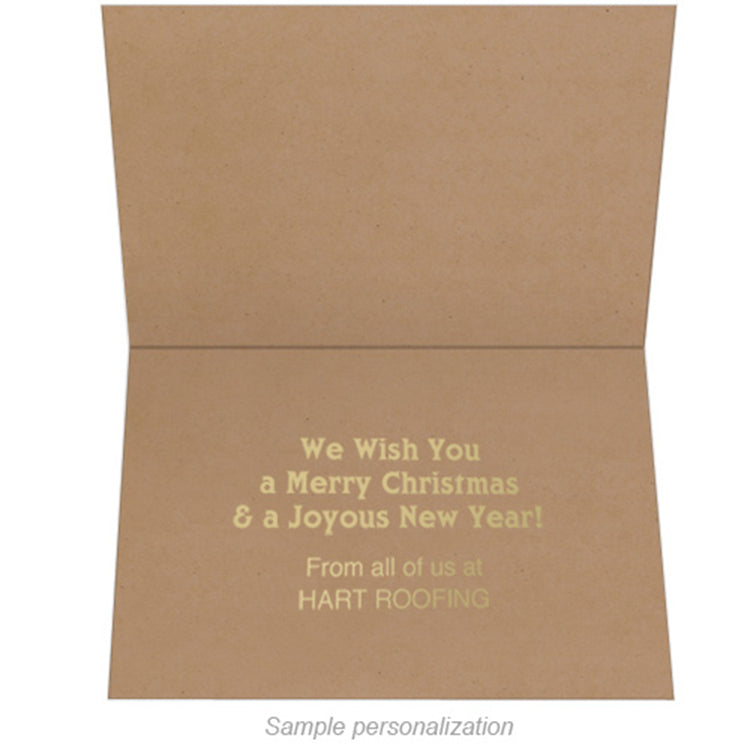 Eco Friendly Business Appreciation Holiday Greeting Card