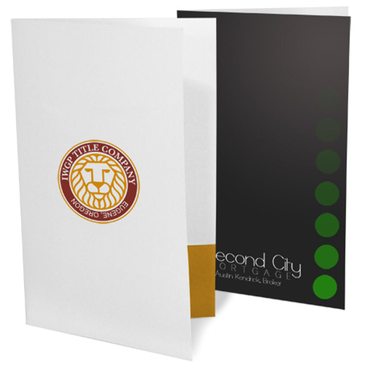 Ink Printed Legal Size Presentation Folders – 2-Color