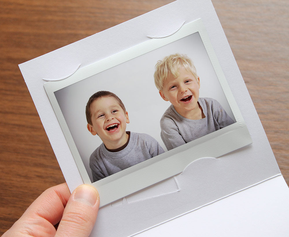 Green Baby Footprints Instax Frame