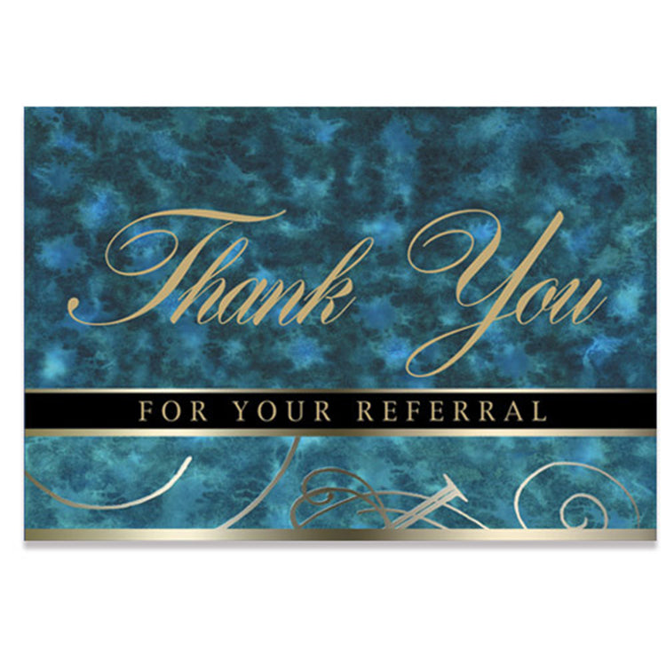 Blue Marble Referral Thank You Card