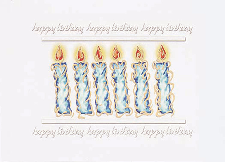Blue Birthday Candles Greeting Card