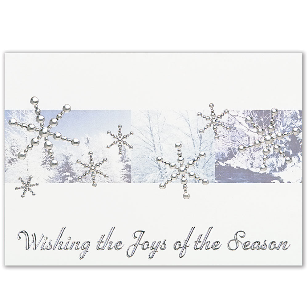 Silver Snowflakes Holiday Greeting Card