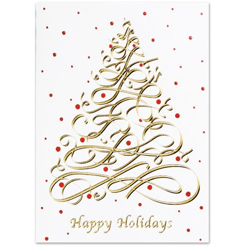 Modern Tree Holiday Greeting Card