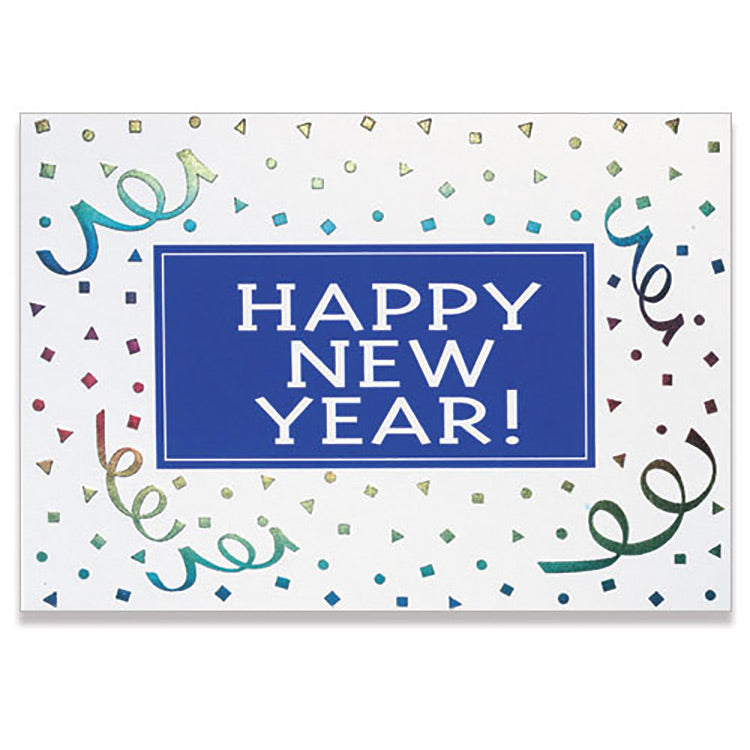 Happy New Year Ribbon Greeting Card